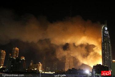 آتشبازی و آتشسوزی همزمان در دوبی