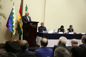 برگزاری همایش بزرگ اقتصادی ایران و بولیوی با حضور ظریف