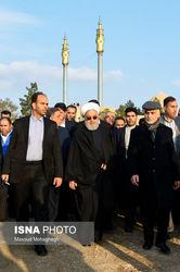 تصاویر مراسم تشییع همشیره حسن روحانی