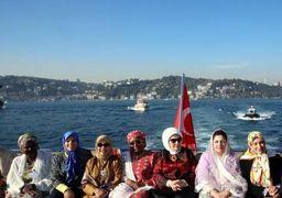 همسر جهانگیری در ضیافت ناهار همسر اردوغان + عکس