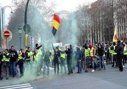 اعتراضات جلیقهزردها در بلژیک؛ 100 نفر بازداشت شدند