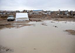 وضعیت اسفناک چادر زلزله زدگان پس از بارش باران + عکس