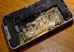 انفجار باتری یک گوشی موبایل +عکس
