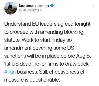 فوری: اروپا از فردا مقابله با تحریمهای آمریکا را آغاز میکند