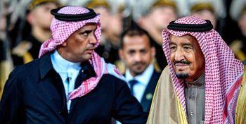 حضور یک زن در گارد حفاظتی پادشاه عربستان +عکس