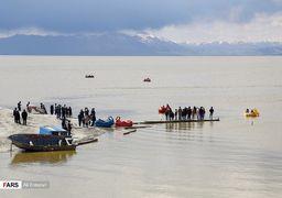 تصاویری از دریاچه ارومیه بعد از بارانهای سیلآسا