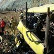 تصاویری از واژگونی اتوبوس در دانشگاه علوم تحقیقات