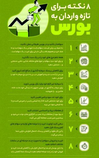 تازه واردان بورسی بخوانند: توصیه هایی که شما را پولدار میکند