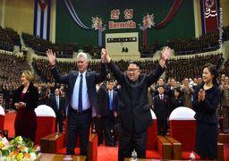 تصاویر دیدار امروز رئیسجمهور کوبا با رهبر کره شمالی