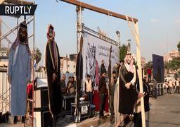 اعدام نمادین ترامپ و بنسلمان در بغداد +فیلم