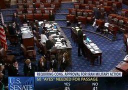 کنگره: ترامپ برای جنگ علیه ایران مختار است