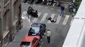 فیلم دلخراش کشتار خیابانی یک داعشی چاقو بهدست!