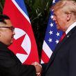 لحظه تاریخی دیدار دونالد ترامپ و کیم جونگ اون +فیلم