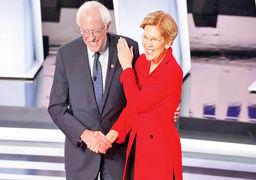 دوئل لیبرالها و پیشروها در دومین مناظره دموکراتها