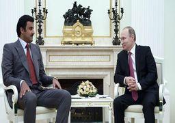 گفتگوی امیر قطر و پوتین درباره تحولات منطقه خلیج فارس
