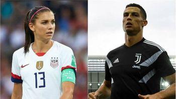 اظهارات تند فوتبالیست زن آمریکایی علیه رونالدو