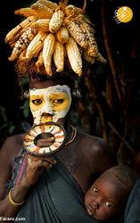 چهرههای عجیب اعضای قبیله امی