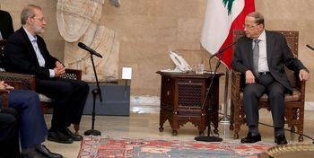 دیدار علی لاریجانی و میشل عون