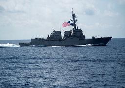 حضور کشتی نظامی آمریکا در مرز آبی قطر