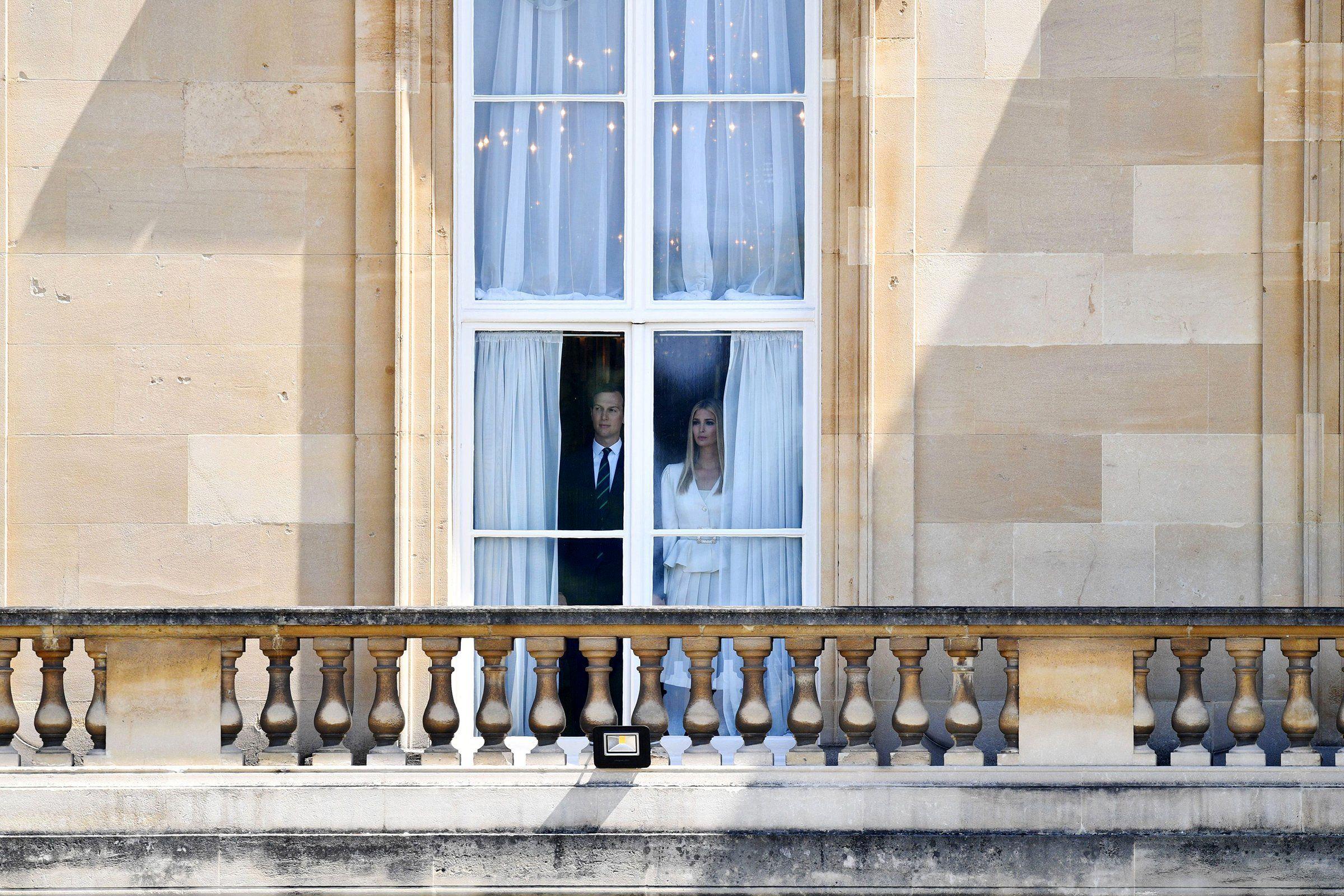 Jared Kushner, senior advisor to President Trump, and Ivanka Trump at Buckingham Palace during the President's state visit in June.