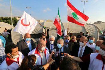 برپایی بیمارستان صحرایی ایران در بیروت +فیلم