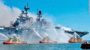 پیامدهای حریق ناو بزرگ ایالات متحده برای آمریکا+ اطلاعاتی در مورد یواساس بونهام ریچارد