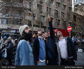 واکنش مردم به شلیک پدافند هوایی در تهران