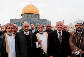 ورود بی سابقه یک مقام عربی به مسجد الاقصی + عکس