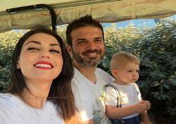 همسر استراماچونی در راه تهران+عکس
