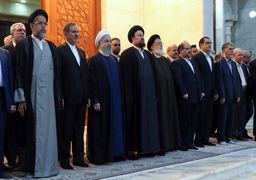 حضور روحانی و اعضای هیئت دولت در حرم امام خمینی +تصاویر