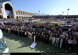 اقامه نماز عید فطر به امام رهبر انقلاب اسلامی +تصاویر