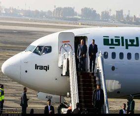 تصاویری از ورود رئیس جمهوری عراق به تهران و استقبال از او