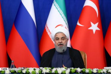 نشست سهجانبه تهران با حضور روحانی، پوتین و اردوغان