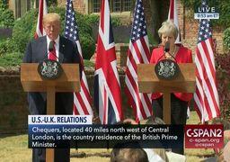 درخواست ترامپ از ترزا می برای شکایت از اتحادیه اروپا