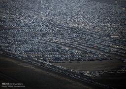 تجمع خودروها در مرز شلمچه