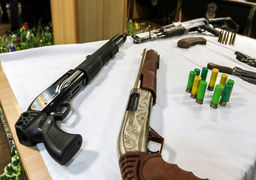 سلاحهای عجیب مکشوفه از عوامل تیراندازی میدان جمهوری مشهد