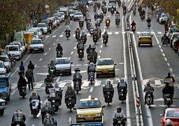 اعلام تعداد خودرو و موتورسیکلت ها در تهران