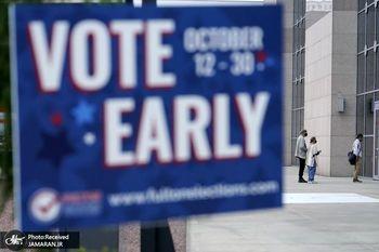 آغاز رای گیری زودهنگام انتخابات ریاست جمهوری آمریکا+ عکس