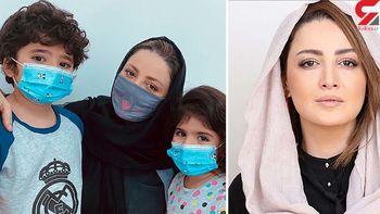 ماسک متفاوت شیلا خداداد و فرزندانش + عکس