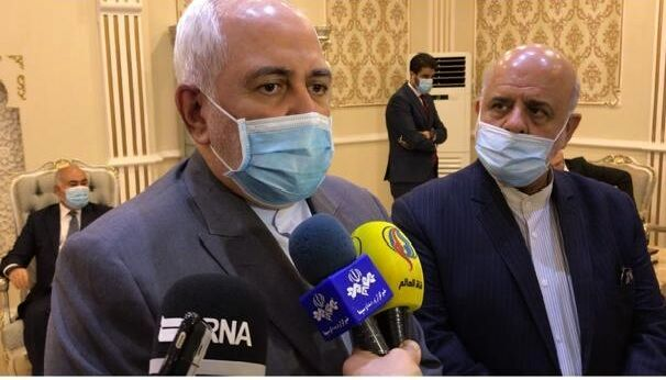 ظریف در بغداد: پرونده شهادت سپهبد سلیمانی را با عراقیها بررسی میکنم