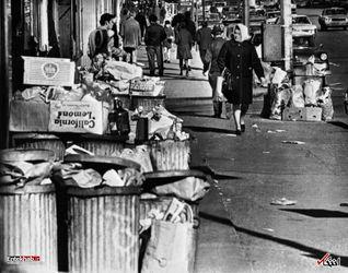 6 فوریه 1968 : اعتصاب کارگران شهرداری در نیویورک و انباشت زباله ها در خیابان