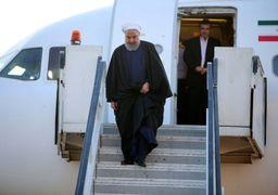 روحانی برای بازدید از مناطق سیل زده وارد مازندران شد