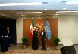 روحانی با دبیرکل سازمان ملل دیدار کرد