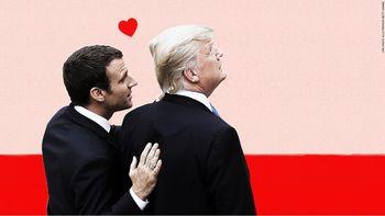 5 لحظه جنجالی از روابط عاطفی ترامپ و مکرون + فیلم + زیرنویس فارسی و انگلیسی