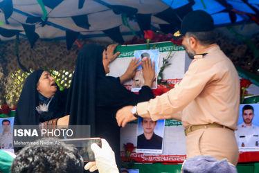تصاویر مراسم تشییع پیکر شهدای ناوچه کنارک