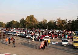 گردهمایی بزرگ خودروهای کلاسیک در آزادی + عکس