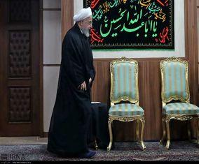 مراسم عزاداری امام حسین (ع) با حضور حسن روحانی و اعضای کابینه