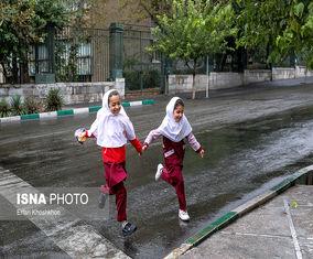 تصاویر اولین باران پاییزی تهران 98
