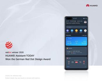 دریافت جایزه Red Dot Awards  برای دستیار نرمافزاری Huawei Assistant-Today    توسط هوآوی