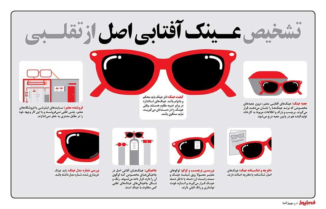 sSD8VPpnpc4b - چگونه اصل یا تقلبی بودن عینک آفتابی را تشخیص دهیم؟ +اینفوگرافی